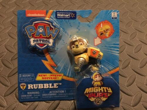 paw patrol mighty pups rubble figure