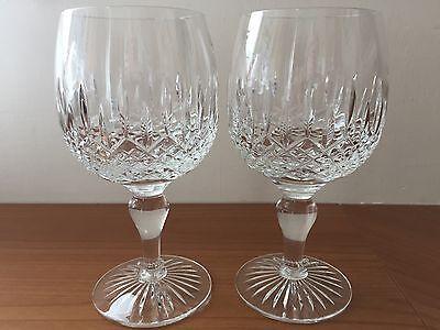 Tudor Crystal - Buckingham Design - 2 x Red Wine Glasses -17cm tall - Never Used