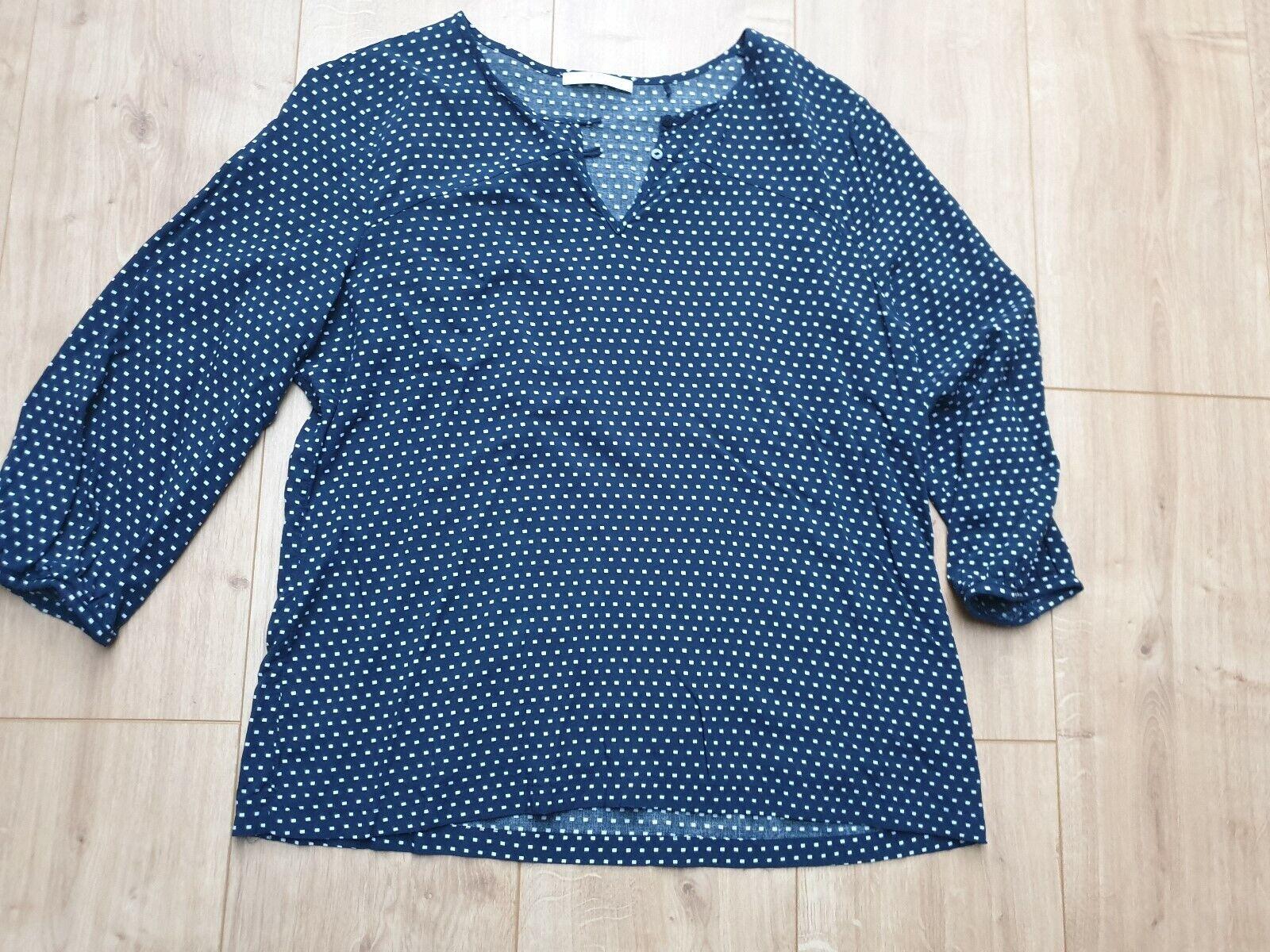 Esprit EDC Bluse, dunkelblau, Größe L, wenig getragen