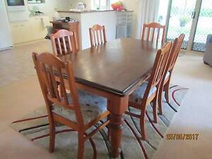 Dining Table with 6 Chairs + 3 Seater and 2 Seater Lounge Suite Jerrabomberra Queanbeyan Area Preview