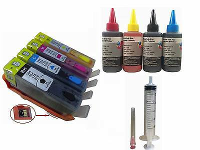 4 Combo Compatible Pack Pre-filled Refillable Ink Cartrid...