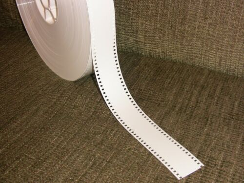 35MM WHITE FILM LEADER  Mylar (estar) 1000FT ROLL