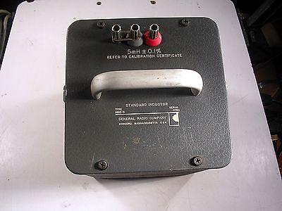 General Radio Standard Inductor Model 1482-g Tested Good