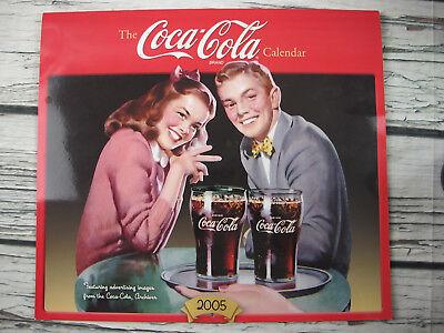 Coca-Cola 2005 Calendar Coke 1950s Advertisting Replication Soda Pop Girl Boy