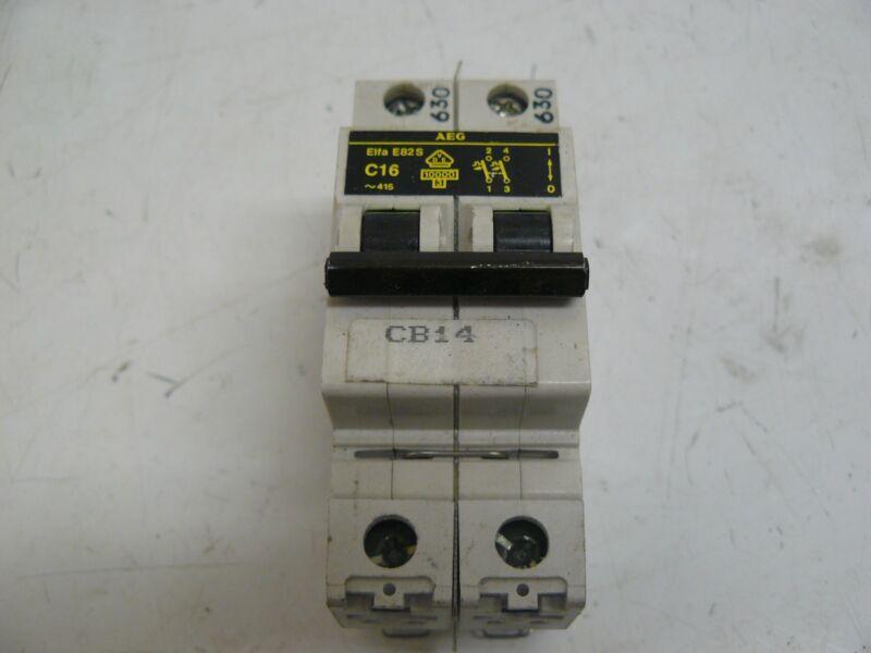EEC AEG ME82S-C16 CIRCUIT BREAKER ELFA MINIATURE 16AMP 2POLE C-TRIP
