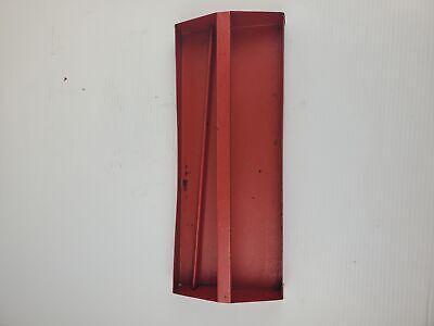 Vintage Metal Tool Bin Insert - Red - 15.5 X 6 X 2.5