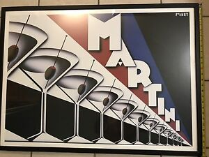 Framed Art Deco Martini wall art by Steve Forney