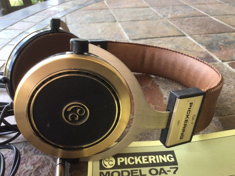 Vintage Pickering OA-7 Audio Stereo Headphones From Japan