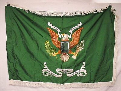 flag1132 WW 2 US Army Unit Color Flag Thirty Third 33rd Tank Battalion W11E