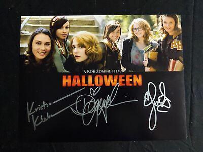Watch Movie Halloween (DANIELLE HARRIS SCOUT TAYLOR COMPTON & KLEBE 3X Signed 10x13 RZ HALLOWEEN)