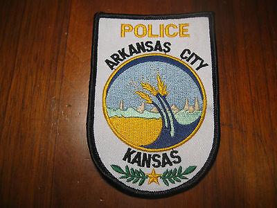 ARKANSAS CITY KANSAS POLICE PATCH