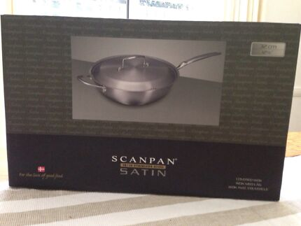 NEW Scanpan - satin wok with lid 32cm Willoughby Willoughby Area Preview