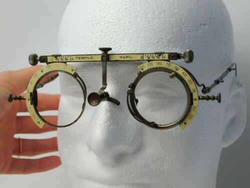 Antique 1895 American Optical Optometrist Eyeglass Trial Frame Tool Steampunk