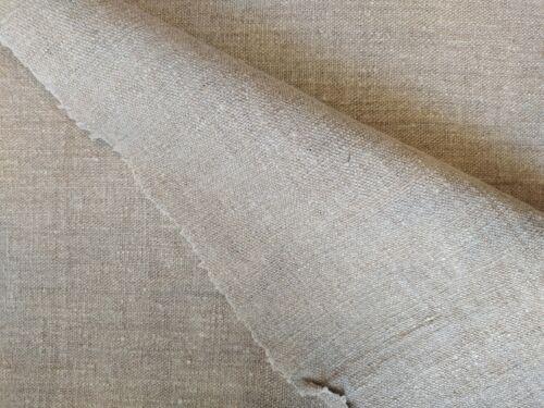 6 Yards Grain Sack Medium Fabric Antique Rustic Linen Old Vintage Flax Homespu