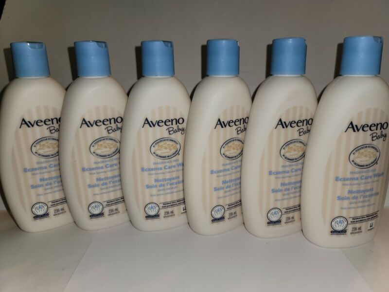 6 Aveeno Baby Cleansing Therapy Eczema Wash 8oz/236ml~Colloidal Oatmeal Ex 5/22
