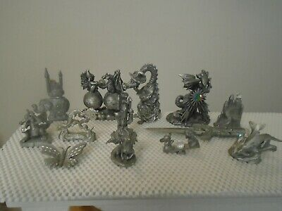 13 PIECE RAWCLIFFE ROGER GIBBONS & MORE PEWTER FIGURINE LOT