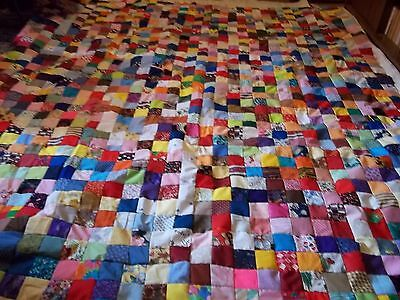 Lots of Squares Scrappy Quilt Top 88 x 80