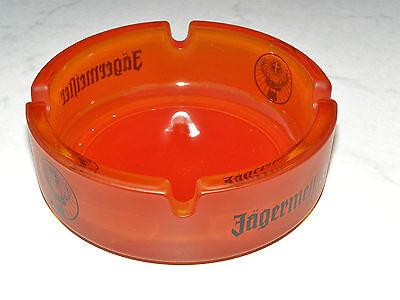 seltener Jägermeister Glas Aschenbecher mit Rudi - Logo, ca. 10,5 cm Durchmesser
