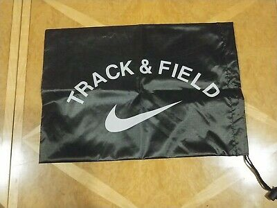 Nike Track & Field Spike Shoe Bag Carry Tote Drawstring Black New