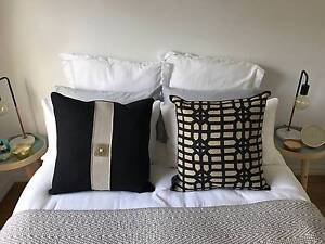 Bandhini Linen Cushion x2 - Never been used Hawthorn Boroondara Area Preview