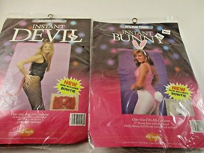 VINTAGE ADULT  WOMANS PLAYBOY BUNNY & DEVIL COSTUMES WITH ACCESSORIES ONLY NIP