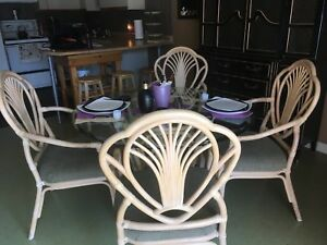 Bamboo table and chairs.  Perfect condition !
