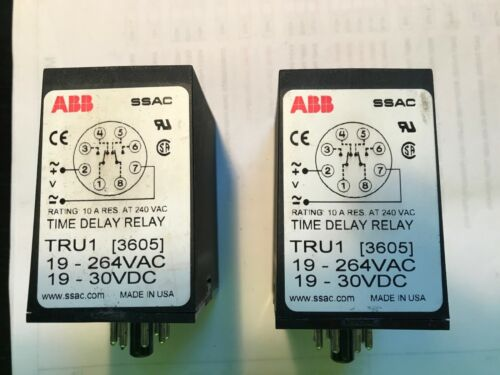 ABB TRU1 3605 Time Delay Relay SSAC