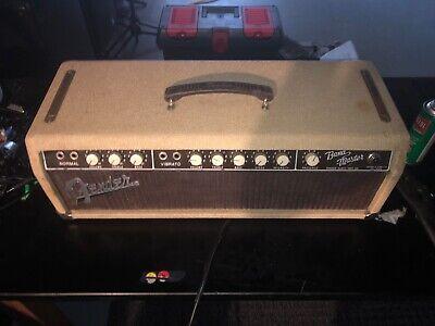 1961 Fender Bandmaster Blonde Amp Head optional Cabinet