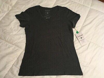 NWT Pact Organic Women Charcoal Short Sleeve T-Shirt M