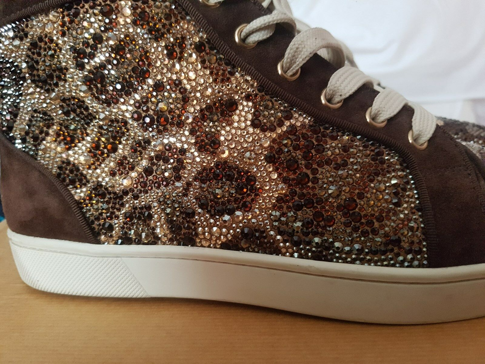 3600$ christian louboutin sneakers strass leopard