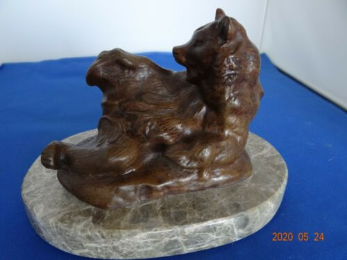 "Antique BAYRE signed Bronze Bear ""Ours Assis no. 2 ""(seated Bear No. 2 )"