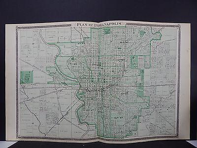 Indiana Maps, 1876 Indianapolis N2#01