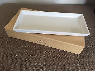 Crate & Barrel Rectangular Pure White Porcelain Serving Tray White Rectangular Tray