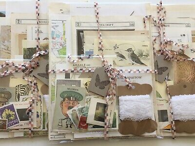Vintage Ephemera Paper Pack 50 pcs Junk Journal Craft Collage