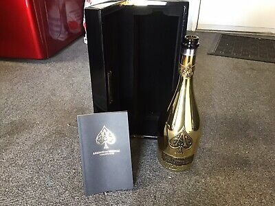 ACE OF SPADES Armand De Brignac Brut Gold Empty Bottles Box/Case 750ml.