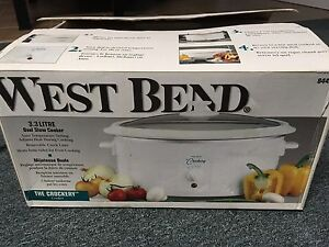 Brand New West Bend 3.3 Litre Oval Slow Cooker
