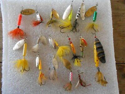 Vintage 16 Rooster Tails 1/4 1/8 1/16 2-1/8, ABU -
