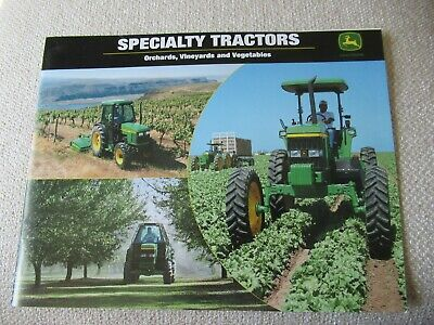 2001 John Deere Specialty Orchard Vegetable 5220 7410 Tractor Brochure 22 Pages