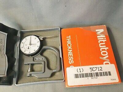 Mitutoyo 2412f 7300 Dial Drop Indicator For Dial Thickness Gage. .001 Grad. Case