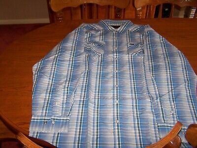 howler bros long sleeve blue plaid shirt xxl