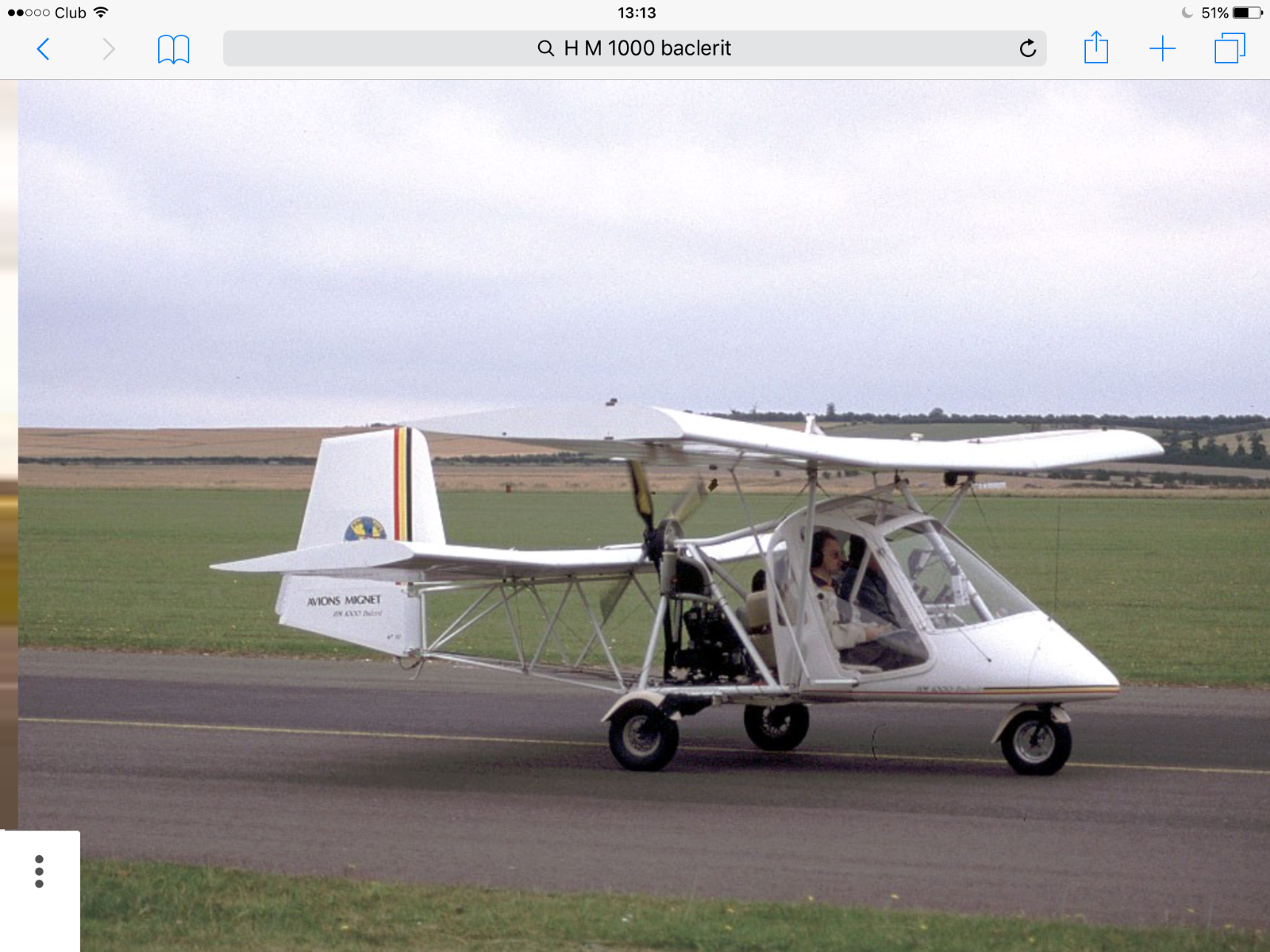Microlite Aircraft HM1000 Balerit Subaru UK Model Mignet Aviation