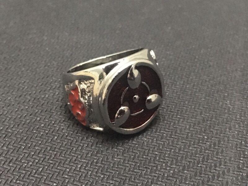 Naruto Shippuden Red Sharingan Eye Akatsuki Metal Ring Sasuke Itachi Uchiha