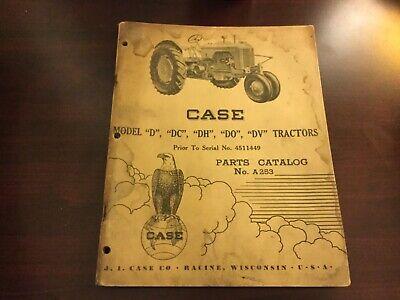 Case D Dc Dh Do Dv Tractor Parts Catalog