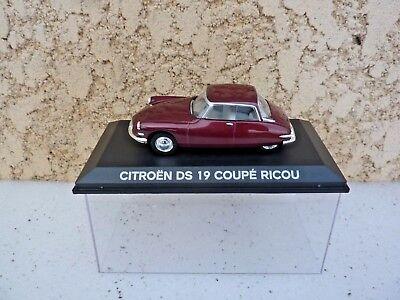 Citroën DS 19 Coupé Ricou 1958 bordeaux métallisé 1/43 Norev Ref :157028