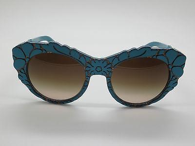 New Dolce & Gabbana D&G DG 4267 3000/13 Petroleum Blue Texture 53mm Sunglasses