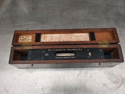 Starrett No. 199 Master Precision Level 15 In Wooden Case