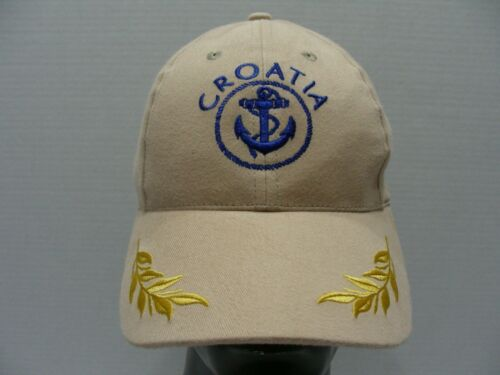 CROATIA - HRVATSKA - Beige - One Size Adjustable Baseball Cap Hat!