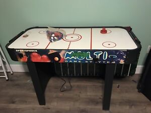 Air hockey combo game table