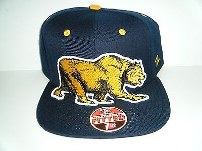 University Cal Berkeley Golden Bears  Menace Authentic 7 1/2 FITTED Hat Zephyr