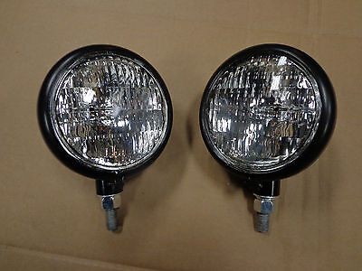 John Deere 320 330 420 430 Sealed Beam Front Head Light Lamp - 6 Volt - Set Of 2
